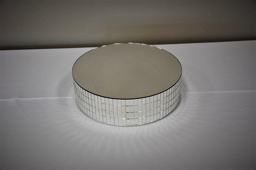 "Cake Stand 14"" Round Mirror"