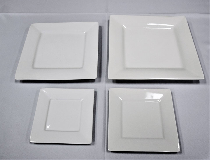"China Plate 10"" Square White"