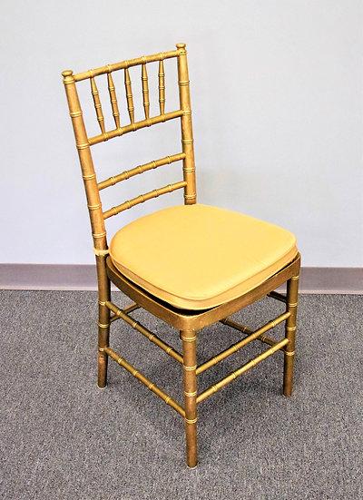 Chair Gold Chivari w/Pad