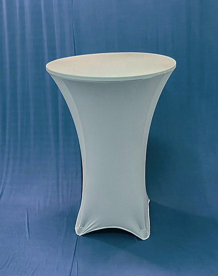 """30"""" Round Spandex Dusty Blue Cocktail Tablecloth"""