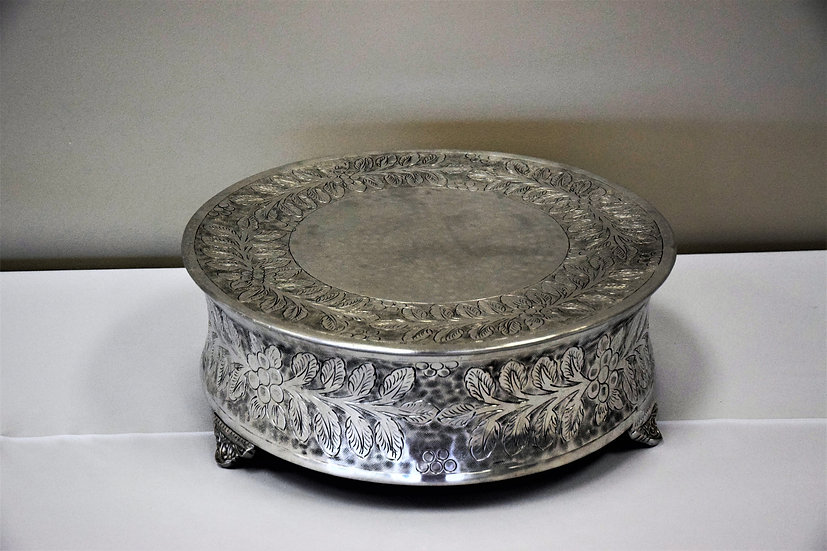 """Cake Stand 18"""" Round Stainless Steel"""