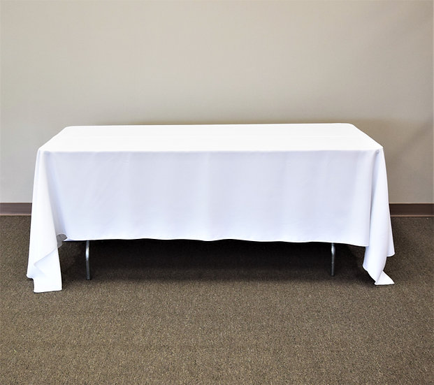 "White 72""x120"" Tablecloth"