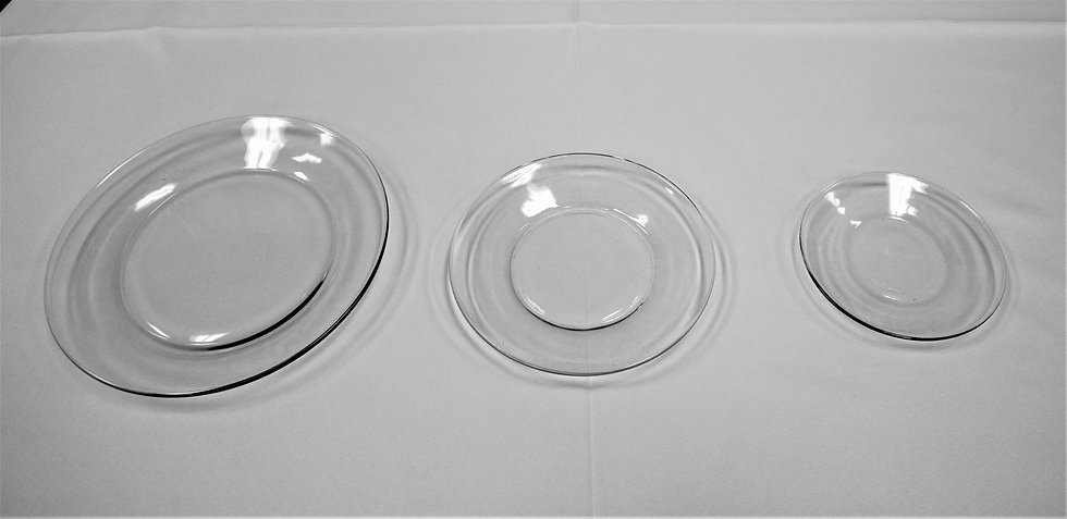Plate Clear Glass  8.5""