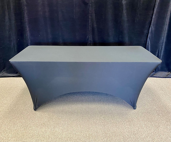 "Black 90"" x 156"" Spandex Tablecloth"