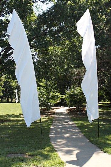 Feather Banners White