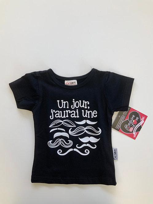 T-shirt noir un jour jaurai 12-18 mois