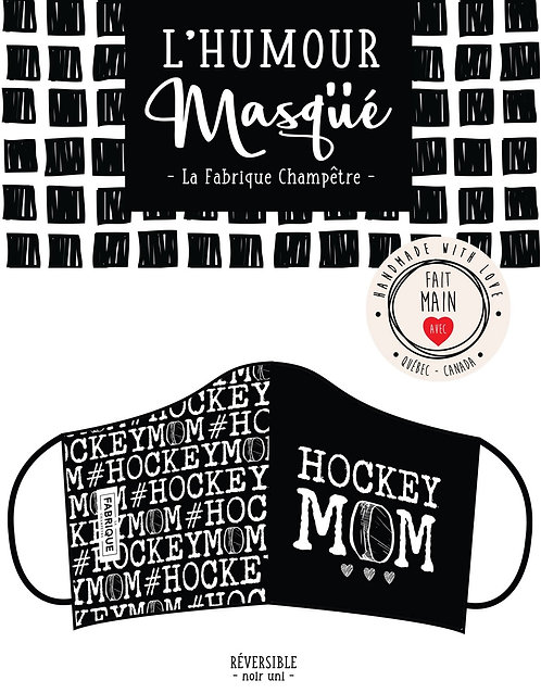 Couvre visage artisanal hockey mom