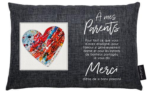 Coussin Chantal Lacroix - À mes parents