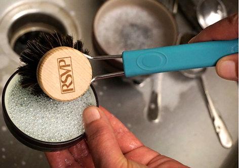 Brosse a vaisselle RSVP bleu