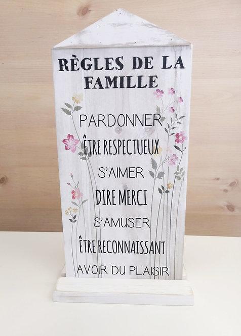 Déco Règle de la famille
