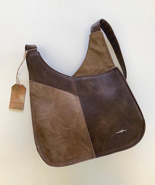 Grande sacoche Espe deux ton brun