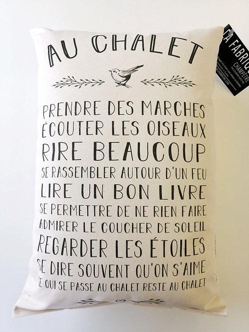 Coussin Au chalet