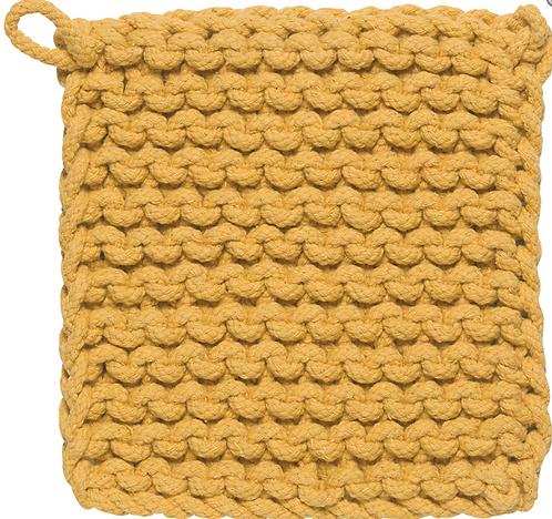 Sous-plat Danica jaune au crochet