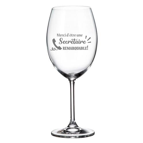 Verre à vin avec Gravure Secrétaire