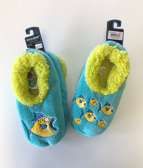 Pantoufle snoozies turquoise  poissons