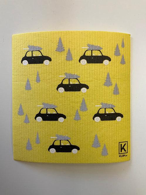 Grand essuis tout Kliin jaune avec voiture