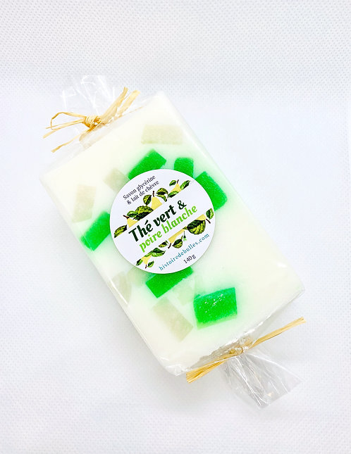 Thé vert et poire blanche