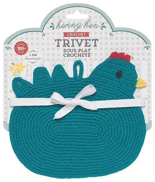 Sous-plat crocheté Now Designs poule