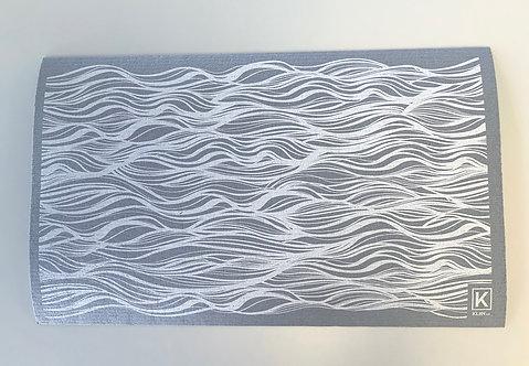 Tapis absorbant pour la vaisselle motif vague