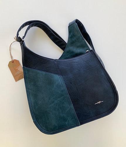 Grande sacoche Espe deux ton bleu