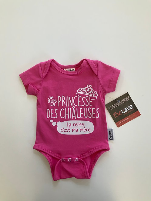 Cache-couche rose je suis la princesse 3-6 mois