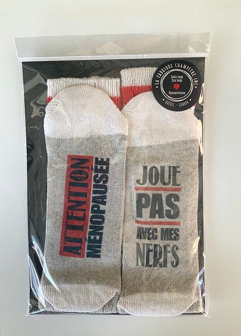 Chaussette Attention ménopause
