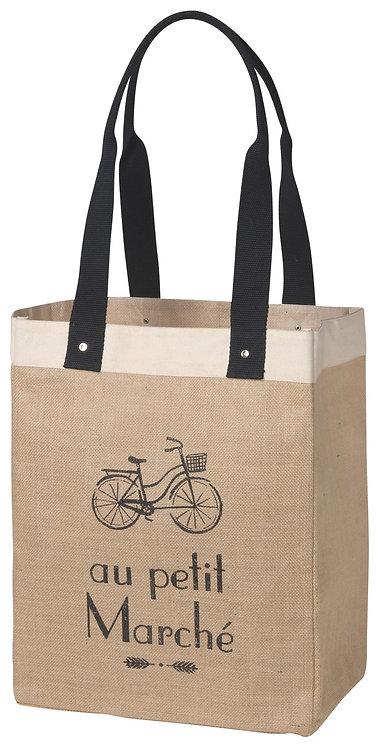 sac de magasinage au petit marché