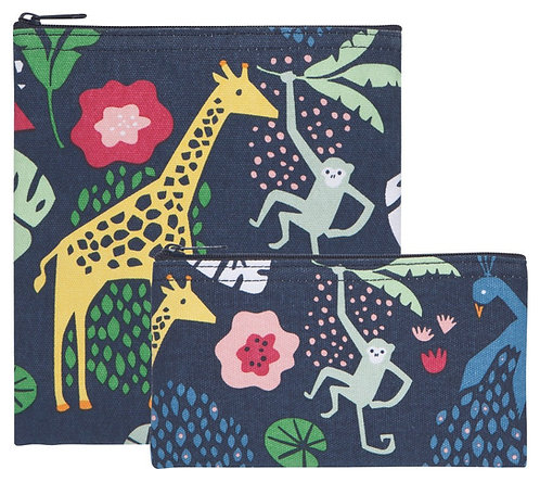 Ensemble de 2 sacs à collation Now Designs jungle