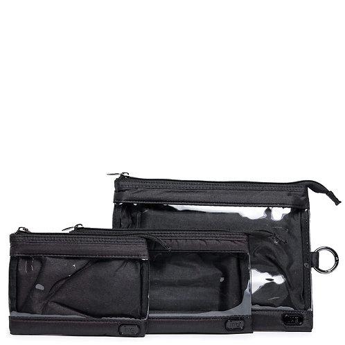 Ensemble de 3 pochettes de transport Lug - Shimmer black