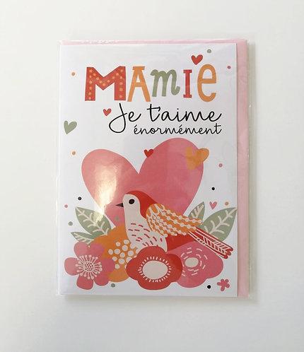 Carte sans texte Mamie Je t'aime énormément