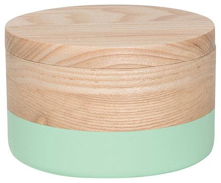 Grande boite en bois Danica couleur vert menthe