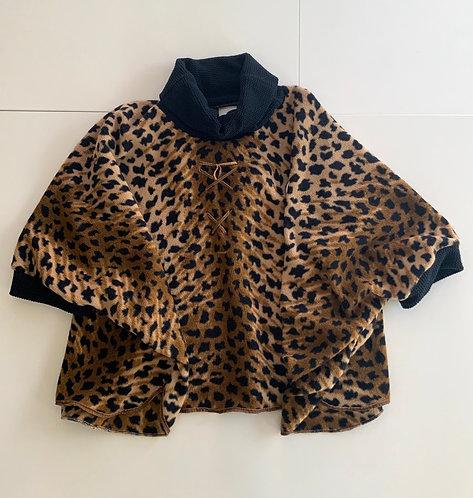 Poncho léopard adulte