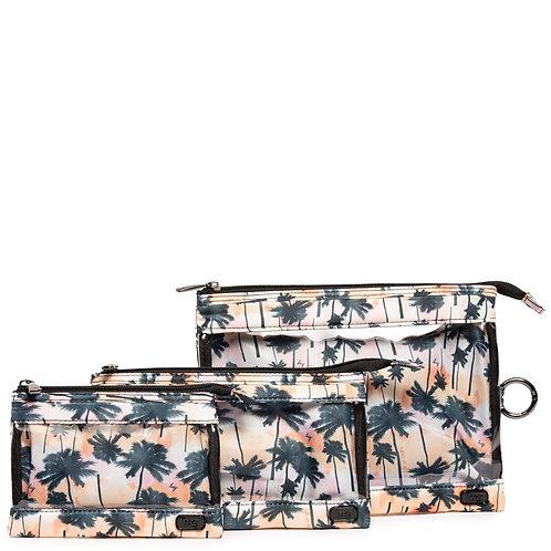 Ensemble de 3 pochettes de transport Lug - Palm sunset