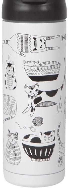 Tasse de voyage Now Designs chat noir et blanc