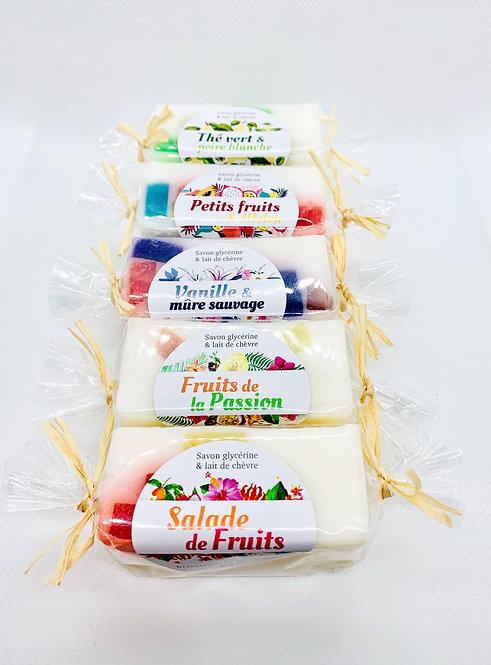 Ensemble de 5 minis savons Fruités