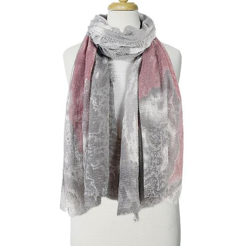 Écharpe légère Caracol -Rose et gris