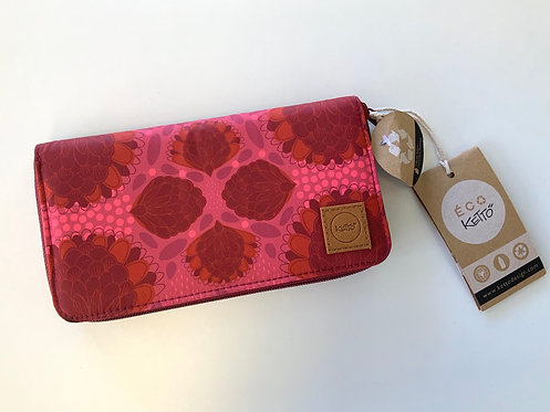 Portefeuille keto rose avec fleurs