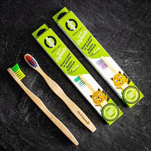 Brosse à dents pour enfant en bambou OLA Bamboo