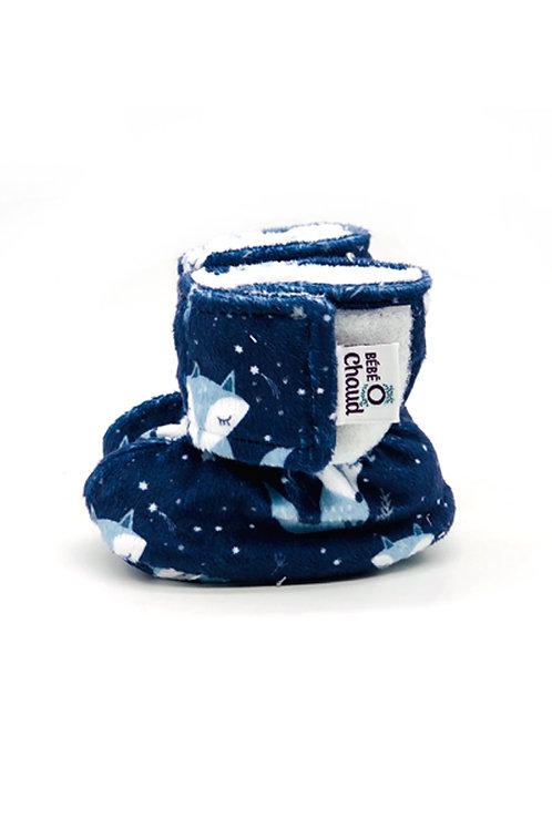 Pantoufles à velcro 0-3 mois
