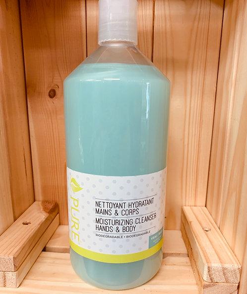 Nettoyant mains corps thé vert  1 litre