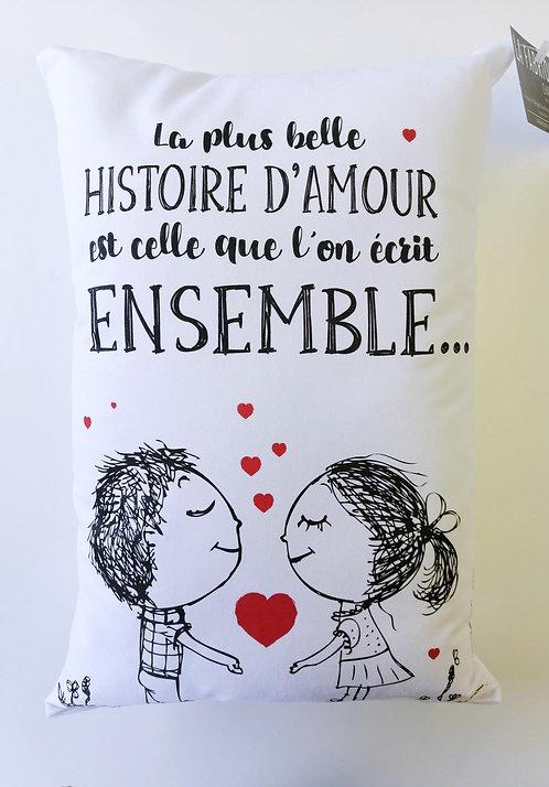 Coussin La plus belle histoire d'amour