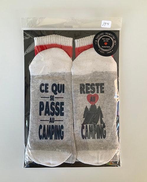 Chaussette  Ce qui se passe au camping