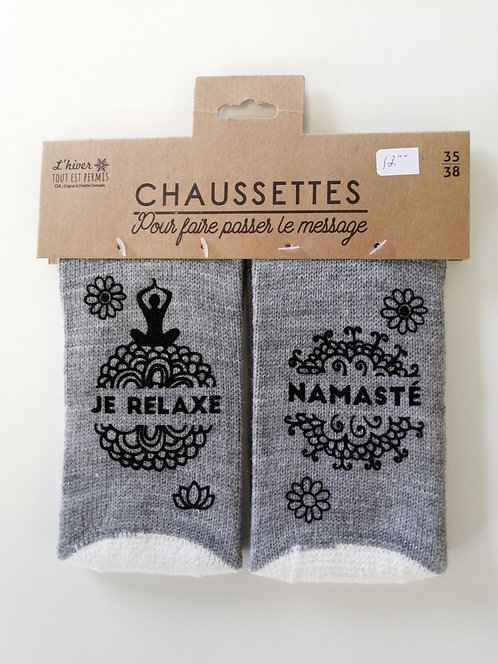 Chaussettes Je relaxe Namasté