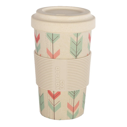 Tasse & Couvercle Fibre Bambou Flèches - NOMAAD ECO