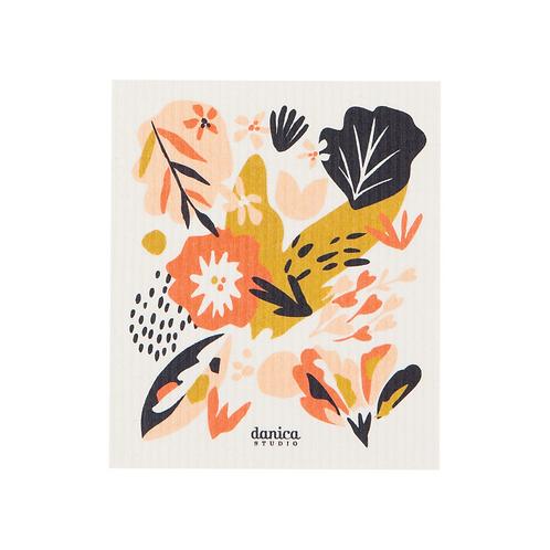 Essuie-tout réutilisable Danica studio motif fleur orangé