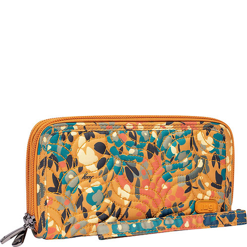 Portefeuille compact Lug Split XL- Wildflower amber