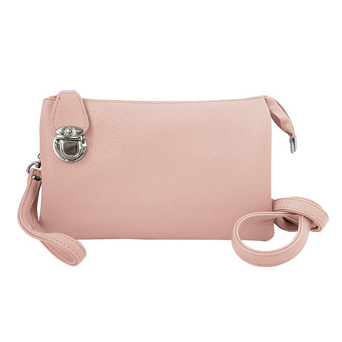 Petit sac à main souple Caracol - Rose