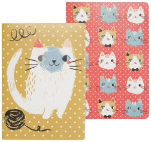 Ensemble de 2 carnets de notes Danica collection Meow meow