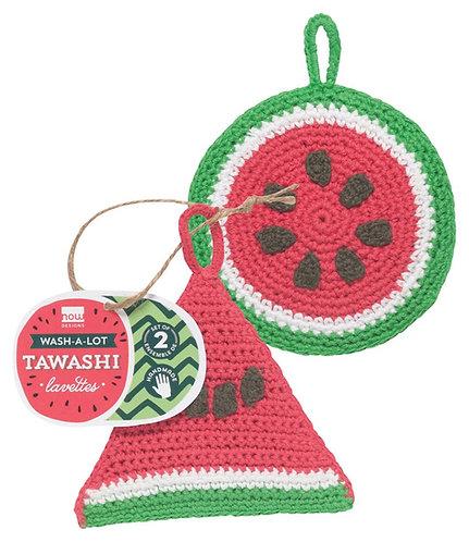 Tawashi lavette Now Designs melon d'eau