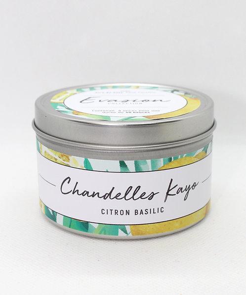 Chandelle Évasion Citron basilic